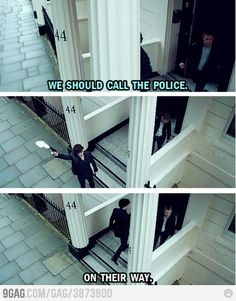 Love Sherlock haha ~ tv show funny Sherlock Holmes John Watson Benedict Cumberbatch Martin Freeman ~ Sherlock Bbc, Sherlock Fandom, Watch Sherlock, Sherlock Quotes, Funny Sherlock, Jim Moriarty, Sherlock Tattoo, Sherlock Comic, Johnlock