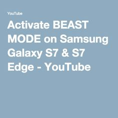 How to Activate Beast Mode on the Samsung Galaxy & Edge. Hey Guys, I this video i'll be showing you how to make your Galaxy and Edge run faster a. Samsung Galaxy S8 Edge, Galaxy S7, Electronic Packaging, S7 Phone, Android Secret Codes, Crochet Phone Cases, Crochet Mobile, Bead Organization, Cell Phone Pouch