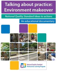 Environment makeover. NQS ideas to actions is a Commonwealth of Australia funded documentary produced and brought to you by Early Childhood Australia (ECA). This video documents a service's development and implementation of a working Quality Improvement Plan (QIP) focused on aspects of Quality Area 3: Physical Environment. This process of developing and implementing the QIP will demonstrate the way in which improving the physical environment will impact on all seven quality areas of the NQS.