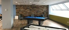 Finium Noble Hillside Barnwood wall panels were chosen for this games room