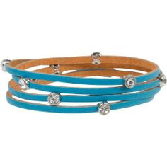 Heirloom Finds Turquoise Bling Crystal Studded Leather Zen Wrap Bracelet One Size Fits All Heirloom Finds. $10.99. Will wrap around 4-5 times on wrist depending on size and comfort preference. Trendy turquoise leather Zen wrap bracelet with bling. Arrives gift boxed!. A perfect gift for yourself or others!. Great look with all this season's styles. Save 69%!