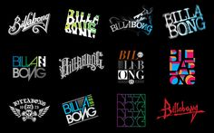 Billabong typography