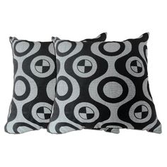 Acura Homes Grey Geometric Decorative Pillow (Set of 2), Size 18 x 18