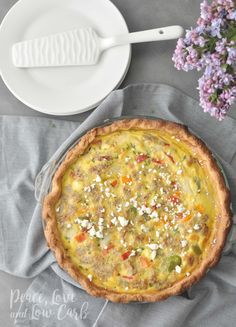 Low Carb Sausage and Vegetable Quiche