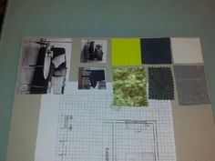 Moodboard oppgave - plantegning- møblering-tekstiler og fargevalg