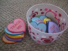 SINGING TIME IDEA: Primary Singing Time Game: Conversation Hearts. Great to use during the month of February for Valentine's Day!