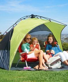 Green Sun Shelter by Lightspeed #zulilyfinds  sc 1 st  Pinterest & Twist nu0027 fold design breaks this sun shelter down with a simple ...