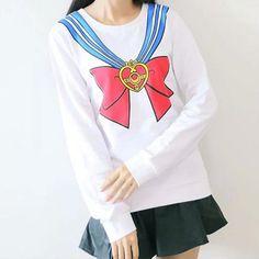 Sailor moon 20th anniversary long sleeve t-shirt top free ship sp141129