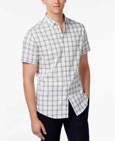Vince Camuto Men's Plaid Short-Sleeve Shirt