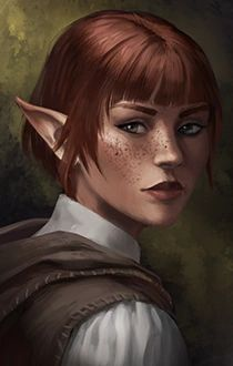 f High Elf Bard portrait Vaina Illonien, on her first visit in Fandhros, watches as a interesting man steps out of an inn. Fantasy Portraits, Character Portraits, Fantasy Artwork, Character Art, Elf Characters, Dungeons And Dragons Characters, Fantasy Characters, Fantasy Races, Fantasy Rpg