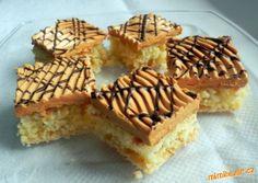 Kokosové řezy s karamelovým krémem