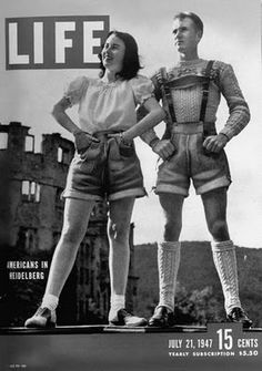 "I don't know wtf is going on here (well doesn't he look snazzy) but it says: ""American teenagers in Heidelberg, Germany on cover of `Life' magazine dated 07-21-1947."""