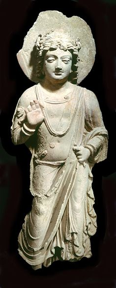 STUCCO FIGURE OF A BODHISATTVA NORTHWEST PAKISTAN OR AFGHANISTAN GANDHARA 4TH � 5TH CENTURY
