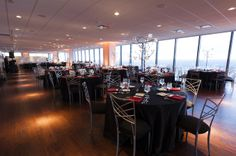 Dinner and a view at D'Amore Events in Indianapolis, IN | Event Venue | Wedding Reception