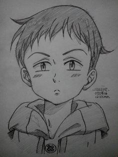 My Sketch Of King From Nanatsu No Taizai Anime Character Drawing Anime Sketch Anime Drawings Boy