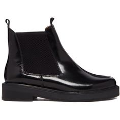 ASOS ALL ME Leather Chelsea Ankle Boots (62 CAD) ❤ liked on Polyvore featuring shoes, boots, ankle booties, botas, black, chelsea boots, beatle boots, real leather boots, black booties and leather ankle booties