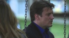 Castle and Beckett  at the Swings