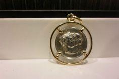 Medaille Argent ET Entourage OR 18K Bijoux Anciens Collection Antiquite   eBay