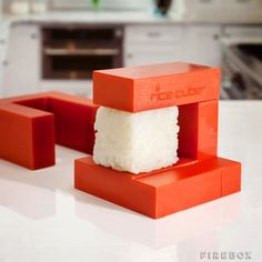 Rice Cube can make sushi from plain rice, cutting down calories and preparation time. You can even make sushi without the nori seaweed. Rice Cube also Must Have Kitchen Gadgets, Kitchen Tools And Gadgets, Cooking Gadgets, Cooking Tools, Kid Cooking, Kitchen Supplies, Rice Cube, Kit Sushi, How To Make Sushi