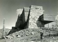 Rose Pauson House. 1939. Phoenix, Arizona. (1942 destroyed by fire) Frank Lloyd Wright.
