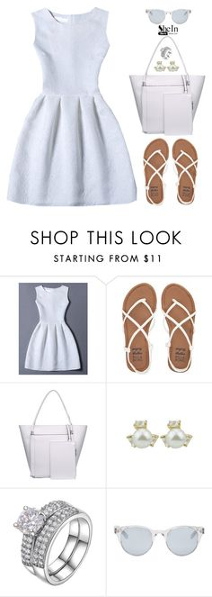 """""""All White Everything"""" by oliverab ❤ liked on Polyvore featuring Billabong, Sun Buddies, Sheinside and shein"""