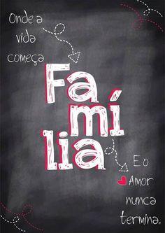 Poster estilo Lousa - Família - Sabrina Matias