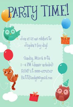 Sparkling Party Printable Invitation Customize Add Text And