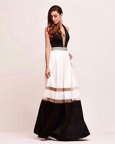 Dress black and white ,um eterno clássico!!!!