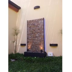 Cascada muro de agua fuente de agua pared de agua