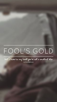 Fool's Gold // One Direction // ctto: @stylinsonphones (on Twitter)