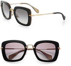 Miu Miu Square Catwalk Sunglasses