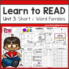This is Unit 3 of Learn to Read, a reading curriculum designed with short vowel family words and sight words! Unit 3 covers short i word families. If your learner needs work on just short i words, this pack is just what you need. Short E Words, J Words, Sight Word Activities, Classroom Activities, Teaching Reading, Learning, Spelling Practice, Curriculum Design, Word Families
