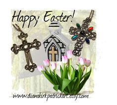 """""""Happy Easter"""" by diana-32 on Polyvore featuring Avon, Individuality Beads, Sarah Coventry, vintage, PhotoChallenge, vintagejewelry, crosspendant, vintagenecklace and teamlove"""