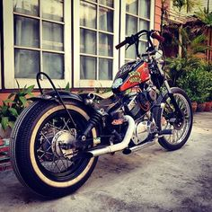 #xv250 #yamaha #virago #vintage #chopper #kustombike #custom #bobber #oldschool…