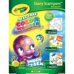 crayola color wonder stamp a story jax - Crayola Write Start Colored Pencils