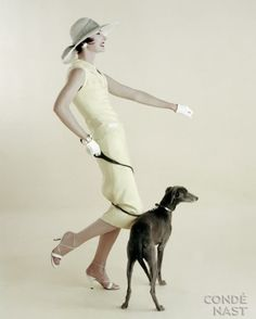 Photo Richard Rutledge, Walking the Dog, Vogue, 1955