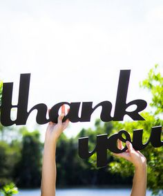 This Black 'Thank You' Sign is perfect! #zulilyfinds