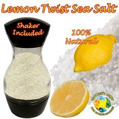 Lemon Twist Sea Salt Shaker 50 Grams