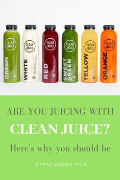 Have you heard about Clean Juice yet? Or know about the benefits of cold press juice? Or the difference between cold press juice and pasteurized juice? Find out why this company is leading the way with their line or raw, organic juices Juice Cleanse Benefits, Organic Juice Cleanse, Juice Cleanses, Juice Branding, Juice Packaging, Beverage Packaging, Juice Menu, Fruit Juice, Healthy Bars