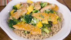Chicken and broccoli gets a sweet twist from pineapple