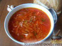 Фото к рецепту: Борщ постный с фасолью