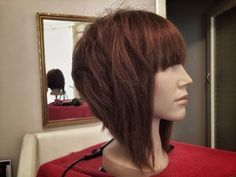 Modern Bob variation with disconnection Bobbed Hairstyles With Fringe, Blunt Bob Hairstyles, Inverted Bob Hairstyles, Trending Hairstyles, Graduated Bob With Fringe, A Line Bob With Bangs, A Line Haircut Short, Disconnected Haircut, Medium Hair Styles