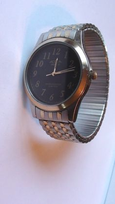 Men Watch ACQUA Timex Indiglo Face 1 1/2 diam by VINTAGEARTJEWELRY