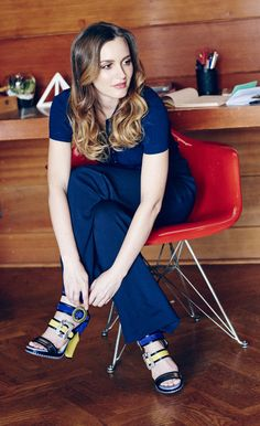 Leighton Meester wearing the KAYA platform in her Spring Summer Style Diary