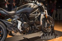 """Ducati fired the first salvo of novelties at a pre-EICMA show event held in a theater in downtown Milan, and the ammunition was abundant and mostly of heavy caliber. It was a one-man show, Ducati CEO Claudio Domenicali unveiling """"his"""" new creations with the pride of a father."""