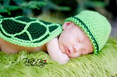 Turtle Hat Diaper Cover Tail and Shell Crochet by DarlingDerriere, $5.49