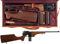 Federal Ordnance Model 713 'Broomhandle Carbine' with case.