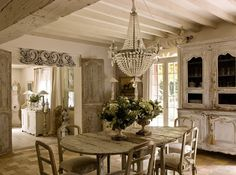 Belle Fracaise Interiors. now this is more my kind of white kitchen. not to white, just implied white.