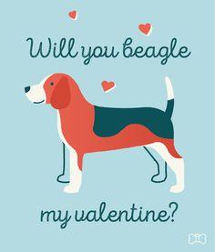 Will you Beagle my Valentine?