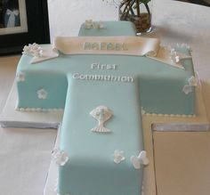 First Communion Cross Cake | Flickr - Photo Sharing!